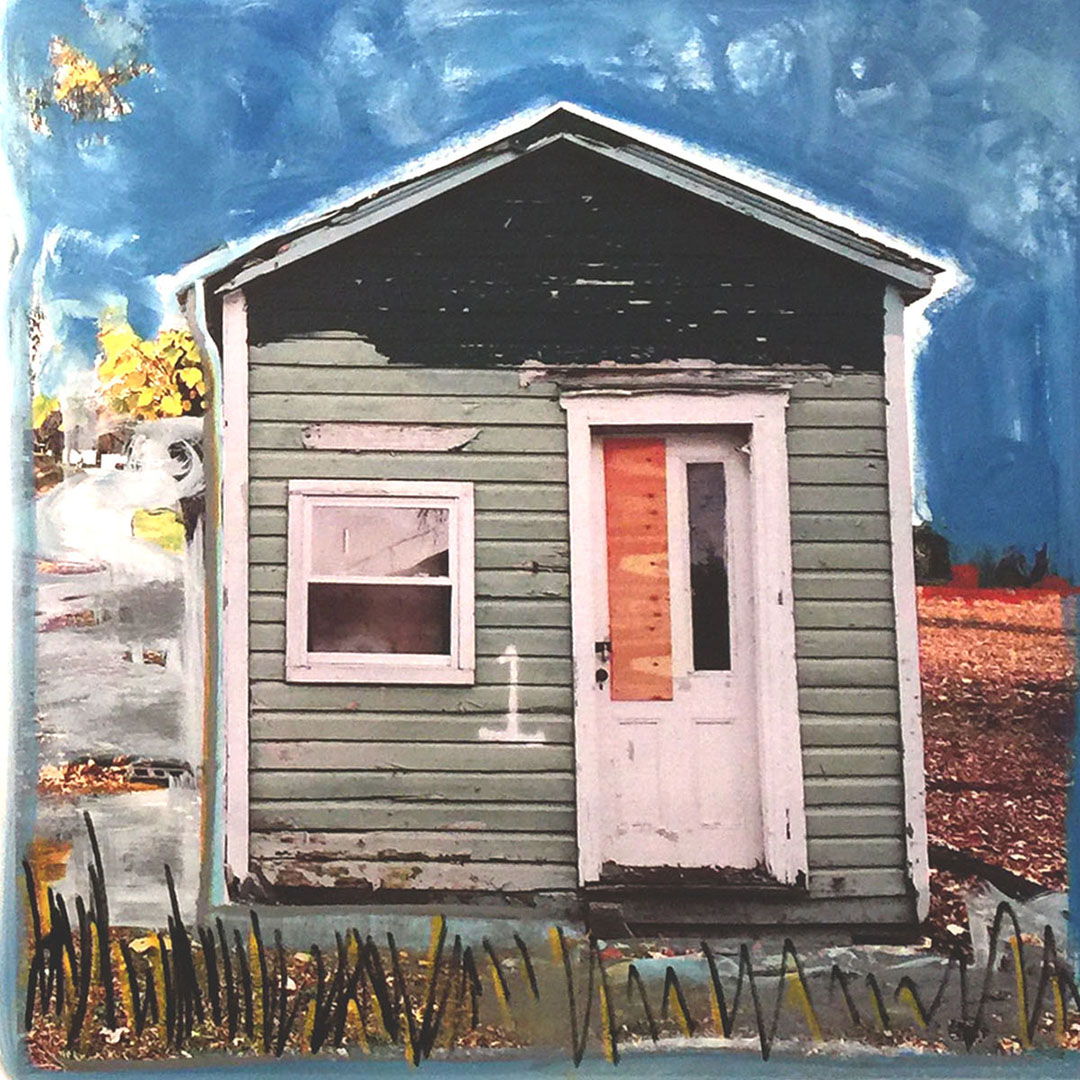 "SHACK #1 2018 30""X30"" MIXED MEDIA"
