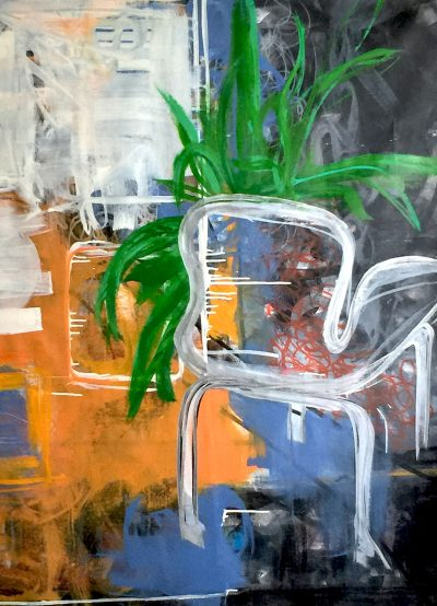"WHITE CHAIR 2018 34""X52"" ACRYLIC"